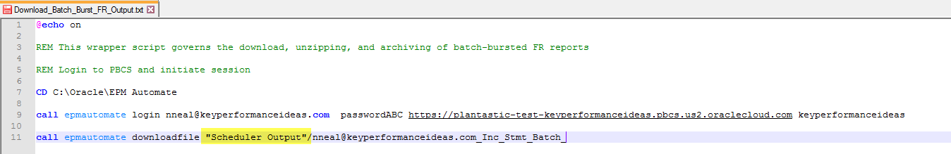 Automation for Processing Batch Burst Report Outputs in Oracle EPBCS